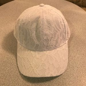 Accessories - White Lace Baseball Hat Cap Brand New Never Worn